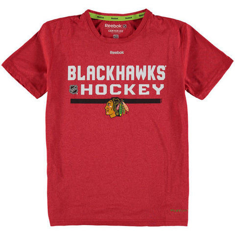 Chicago Blackhawks Reebok Center Ice Performance Youth PlayDry Shirt - Dino's Sports Fan Shop