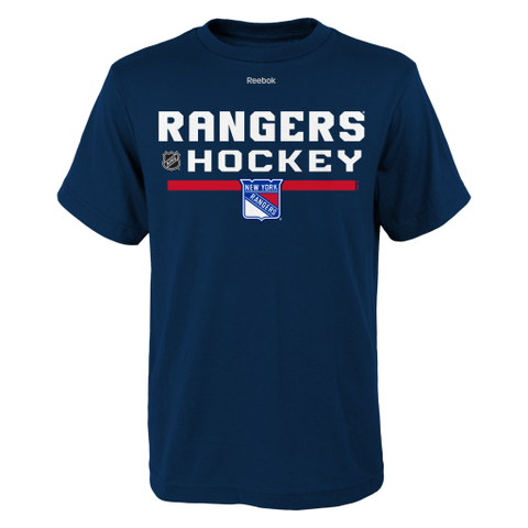 New York Rangers Reebok Center Ice Youth Shirt - Dino's Sports Fan Shop