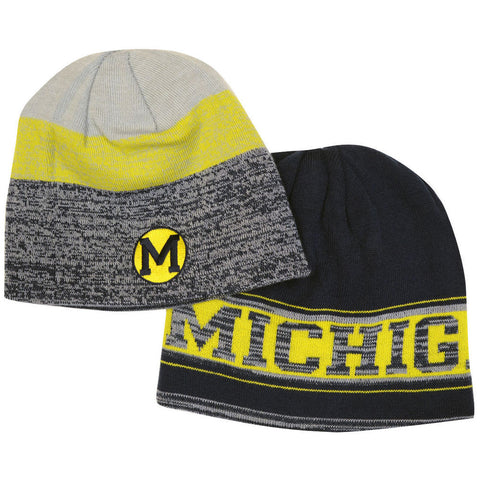 Michigan Wolverines Adidas Reversible Knit Hat - Dino's Sports Fan Shop