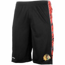 Chicago Blackhawks Reebok Center Ice Collection Youth Black Shorts - Dino's Sports Fan Shop