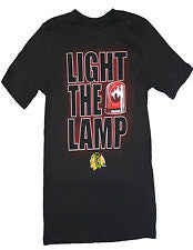 "Chicago Blackhawks Reebok ""Light The Lamp"" Youth Shirt - Dino's Sports Fan Shop"