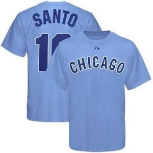Ron Santo #10 Chicago Cubs Majestic Adult Shirt - Dino's Sports Fan Shop