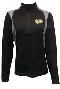 Chicago Blackhawks Antigua Black Delta 1/4 Zip Sweatshirt - Dino's Sports Fan Shop