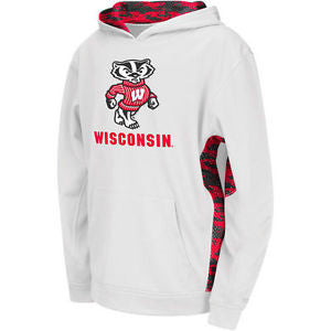 Wisconsin Badgers Colosseum Youth Oil Slick Sweatshirt - Dino's Sports Fan Shop