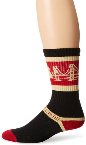 San Francisco 49ers Strideline Maroon City Skyline Athletic Socks - Dino's Sports Fan Shop