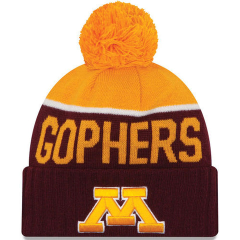 Minnesota Golden Gophers New Era NCAA Red/Gold Adult Knit Hat