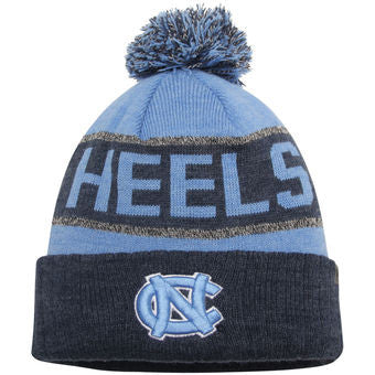 reputable site 1c415 b2fca North Carolina Tar Heels Top Of The World NCAA Blue Below Zero Adult Knit  Hat