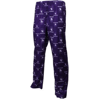 Northwestern Wildcats Genuine Stuff All Over Pajama Pants - Dino's Sports Fan Shop