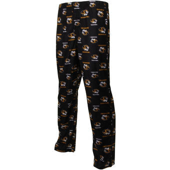Missouri Tigers Adidas All Over Youth Black Pajama Pants - Dino's Sports Fan Shop