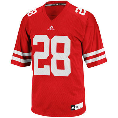 Wisconsin Badgers #28 NCAA Adidas Red Youth Replica Football Jersey - Dino's Sports Fan Shop