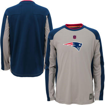 New England Patriots NFL Covert L/S Youth Shirt - Dino's Sports Fan Shop