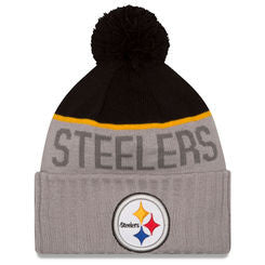 Pittsburgh Steelers New Era NFL 2015 Gray Sport Knit Hat - Dino's Sports Fan Shop