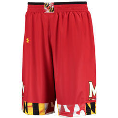 Maryland Terrapins Under Armour Red Youth Shorts - Dino's Sports Fan Shop