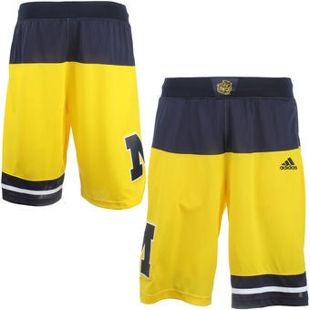 Michigan Wolverines Adult Authentic March Madness Shorts - Dino's Sports Fan Shop