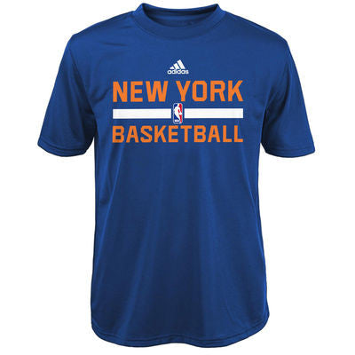 New York Knicks Adidas Practice ClimaLite Youth Shirt - Dino's Sports Fan Shop