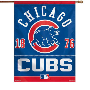 "Chicago Cubs Wincraft Vertical Flag - 27"" x 37"" - Dino's Sports Fan Shop"