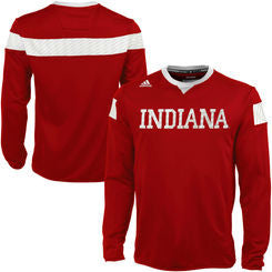 Indiana Hoosiers Adidas Red Sideline ClimaLite Pullover - Dino's Sports Fan Shop