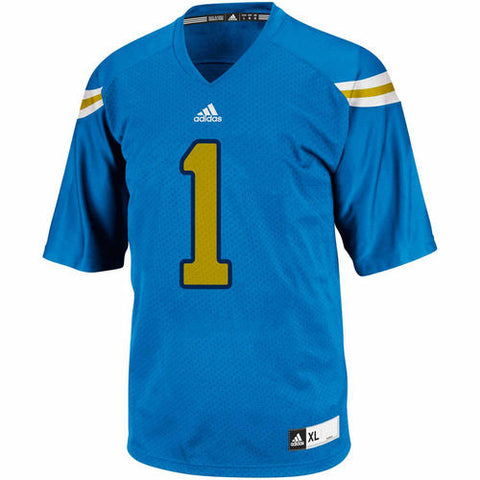 UCLA Bruins #1 NCAA Adidas Blue Youth Replica Football Jersey - Dino's Sports Fan Shop