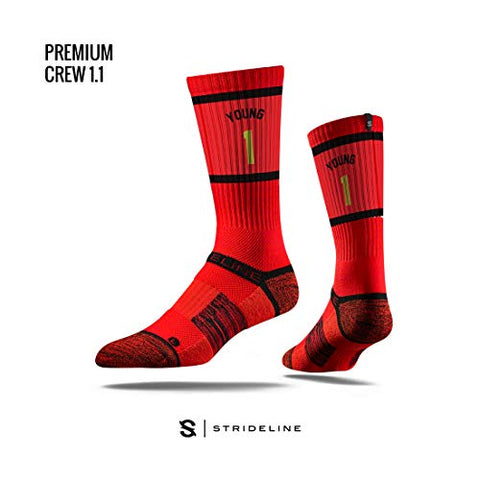 Trae Young Youth Sherzy Red Crew Strideline Sock