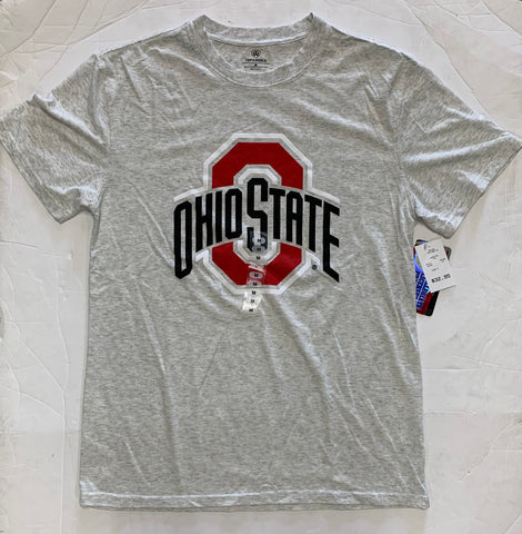 Ohio State Buckeyes Adult Top Of The World Oatmeal Tri-Blend Logo Shirt