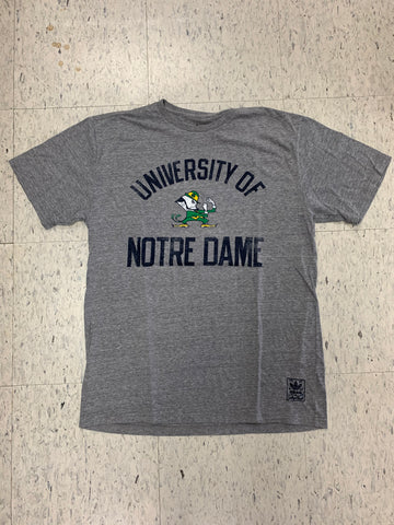 University of Notre Dame Adult Adidas Gray Shirt