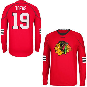 Jonathan Toews #19 Chicago Blackhawks Reebok L/S Shirt - Dino's Sports Fan Shop