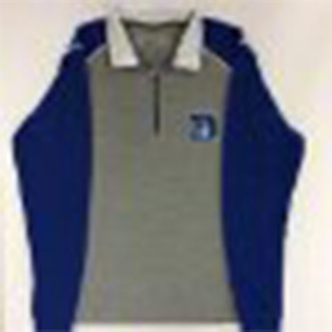 Duke Blue Devils Antigua Gray 1/4 Zip Pullover