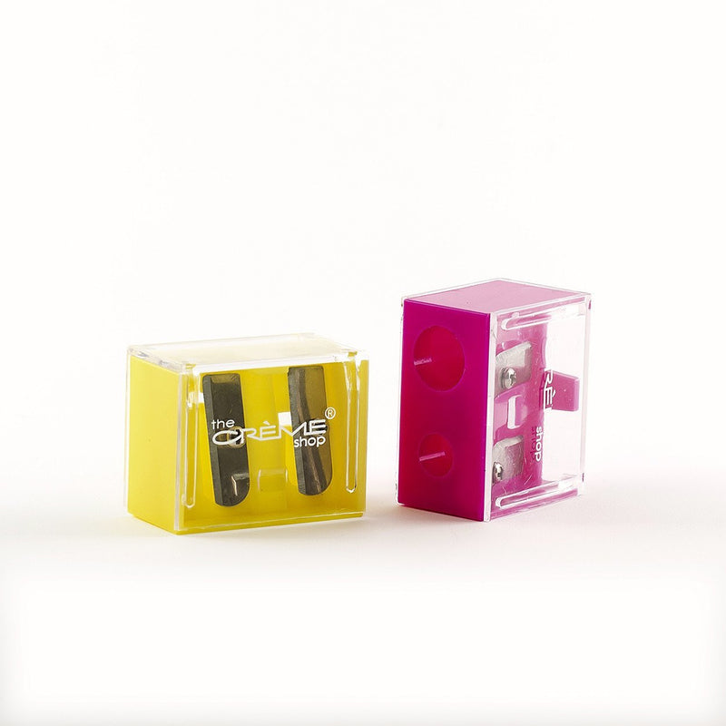 Sharpener Duo Yellow and Pink - the-creme-shop-cosmetics-and-beauty-supply