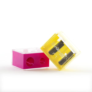 Sharpener Duo Yellow and Pink, Sharpener - The Crème Shop