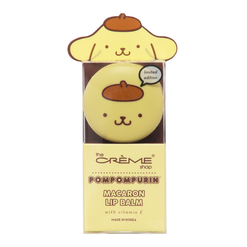 Pompompurin Holiday Macaron Lip Balm - Caramel Pudding - The Crème Shop