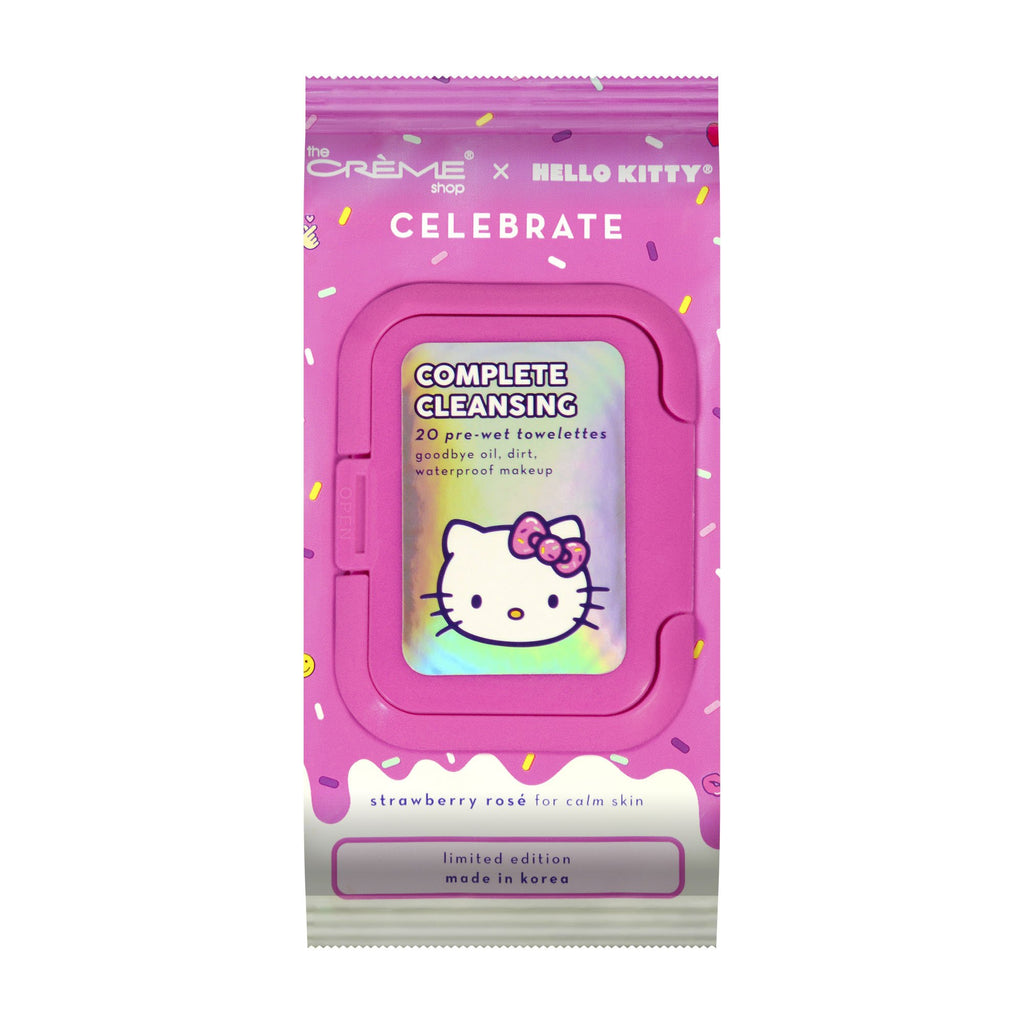 Complete Cleansing 20 pre-wet towelettes - Goodbye oil, dirt, waterproof makeup The Crème Shop x Sanrio The Crème Shop