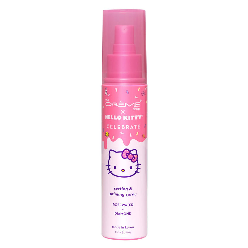 Hello Kitty Celebrate Setting & Priming Spray - Rose Water + Diamond - The Crème Shop
