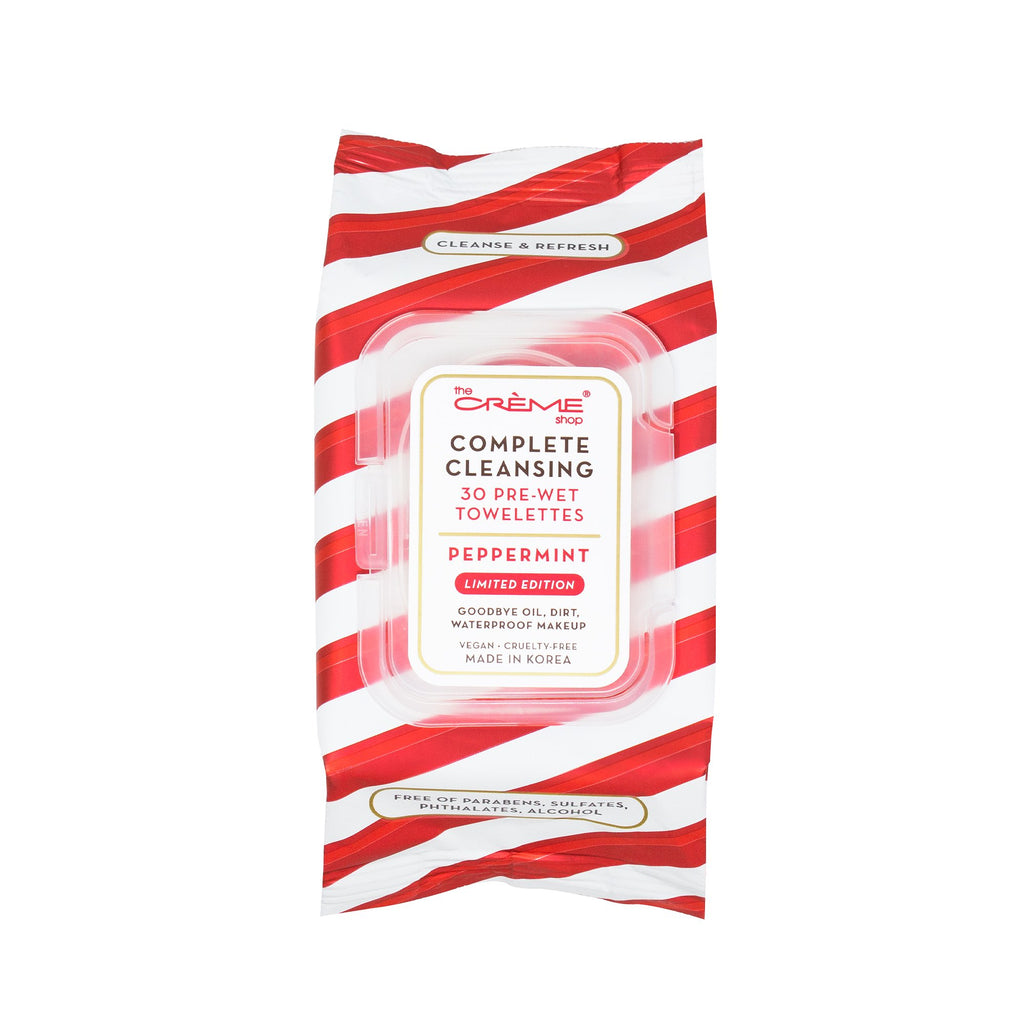 Complete Cleansing Peppermint 30 Pre-Wet Holiday Towelettes - The Crème Shop