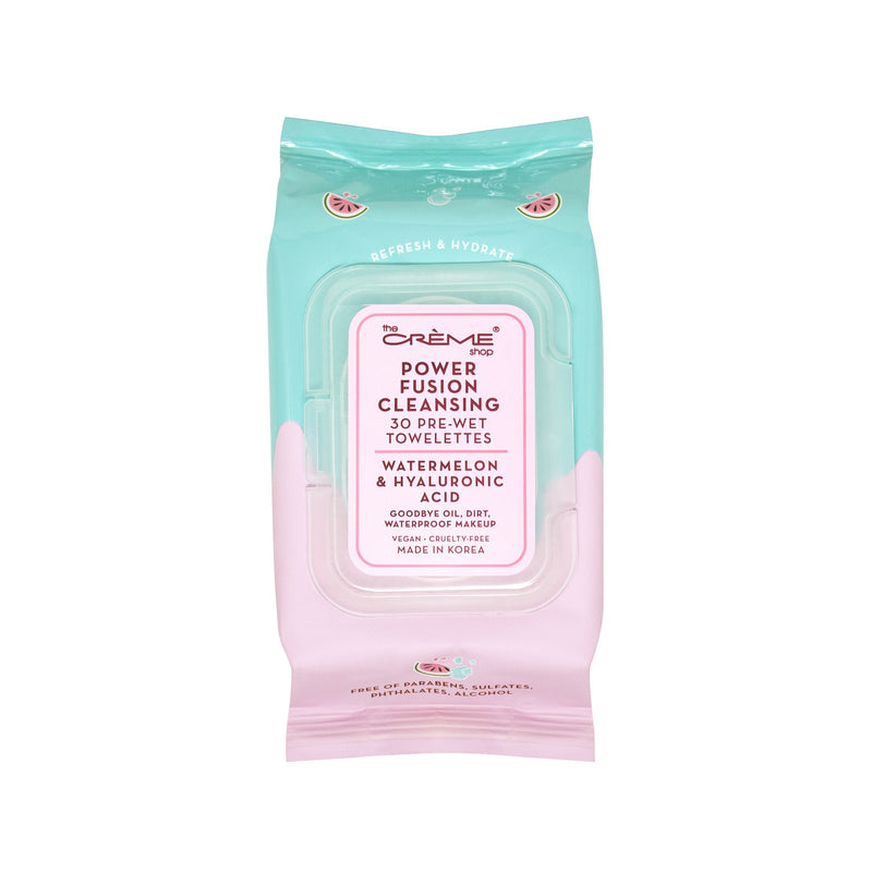 Power Fusion Cleansing Pre-Wet Towelettes - Watermelon & Hyaluronic Acid - The Crème Shop