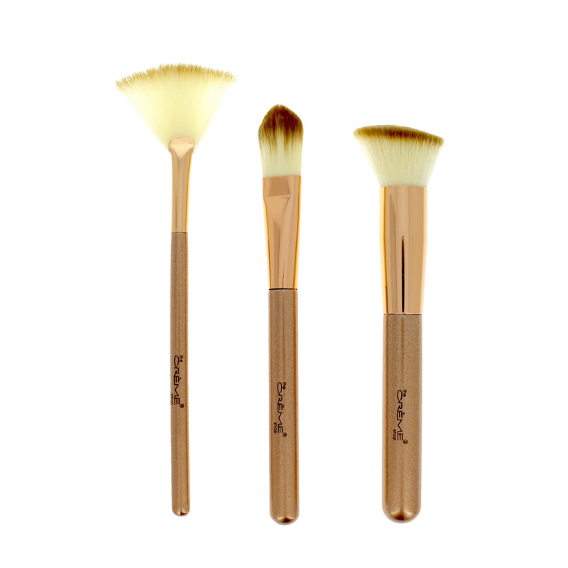 Work of Art  - 3 Brushes for a Picture Perfect Finish Rose Gold - The Crème Shop