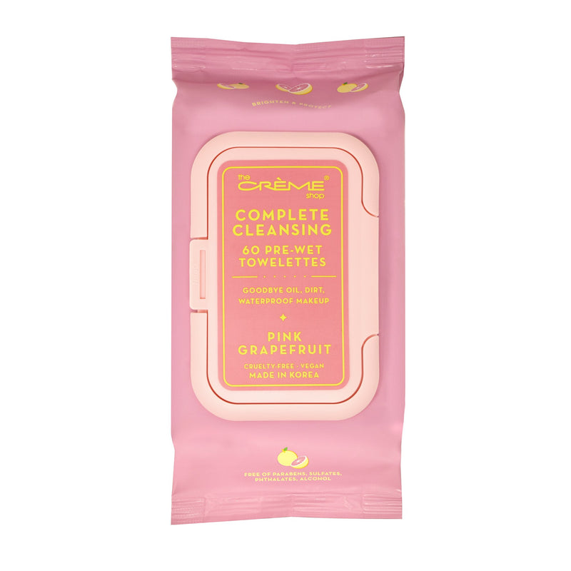 Complete Cleansing Pink Grapefruit 60 Pre-Wet Towelettes - The Crème Shop