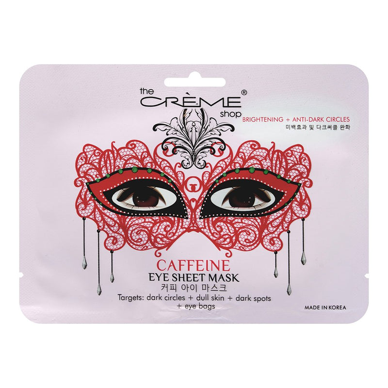 Caffeine Masquerade Eye Sheet Mask - The Crème Shop