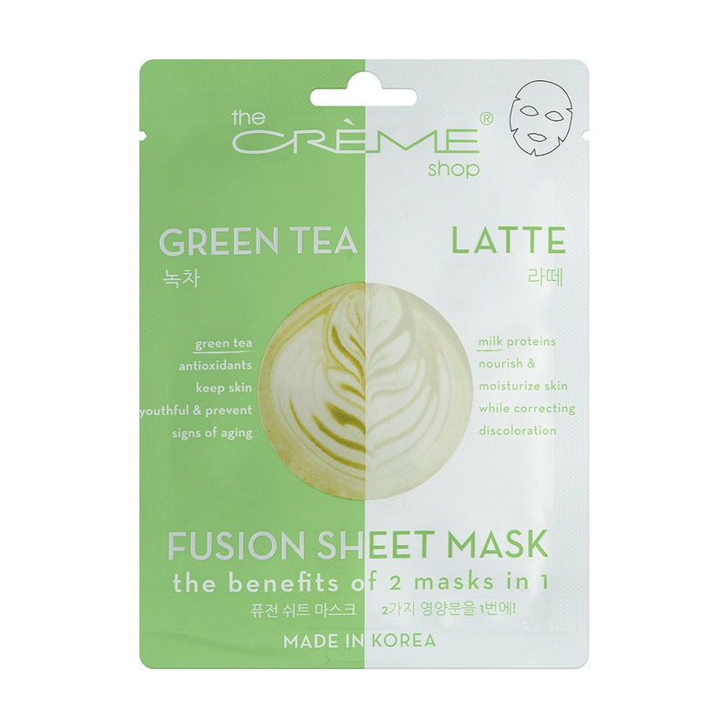 Green Tea & Latte Fusion Sheet Mask - The Crème Shop