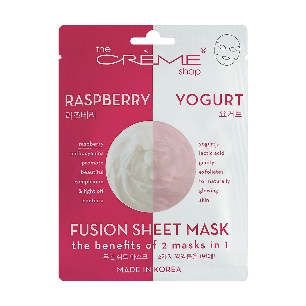 Raspberry & Yogurt Fusion Sheet Mask - The Crème Shop