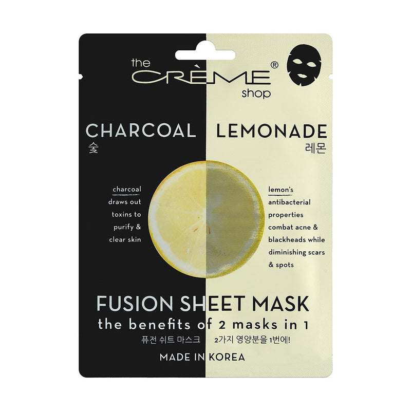 Charcoal & Lemon Fusion Sheet Mask - The Crème Shop