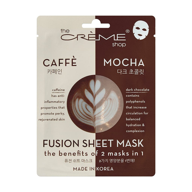 Caffeine & Dark Chocolate Fusion Sheet Mask - The Crème Shop