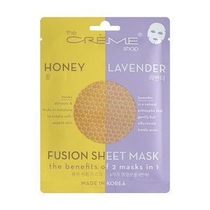 Honey & Lavender Fusion Sheet Mask - The Crème Shop