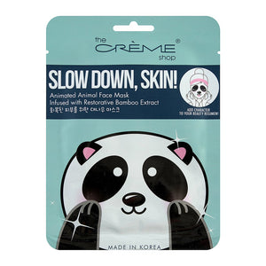 Slow Down, Skin! Animated Panda Face Mask - Bamboo Extract - The Crème Shop