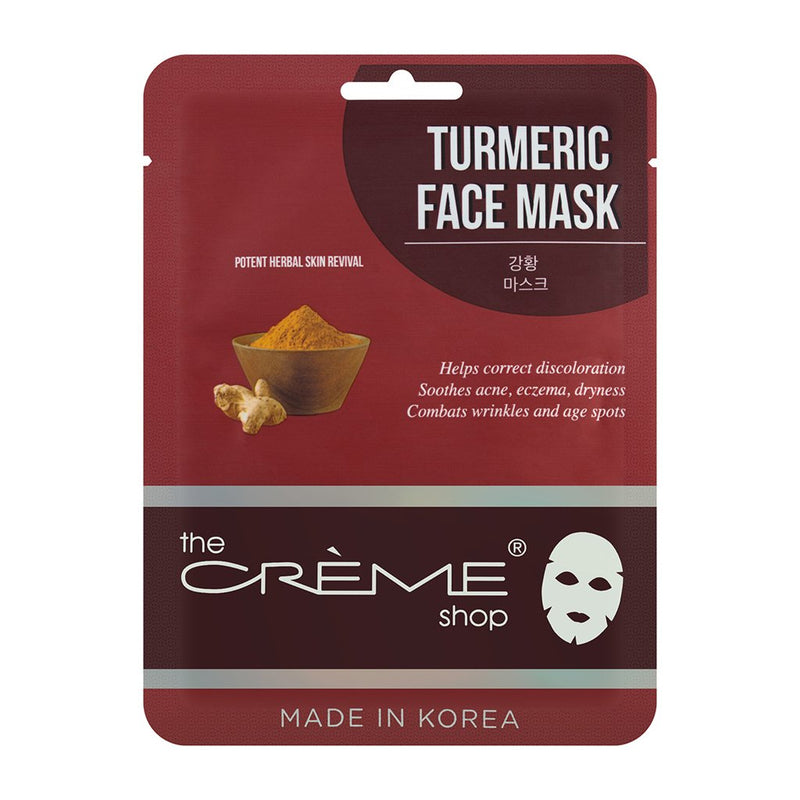 Turmeric Face Mask, Sheet masks - The Crème Shop