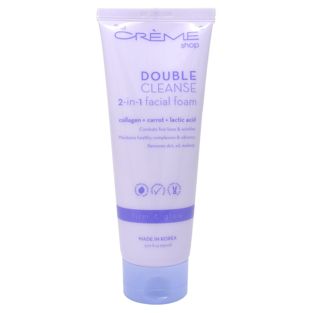 2-in-1 Facial Foam Cleanser: Collagen + Carrot + Lactic Acid - The Crème Shop