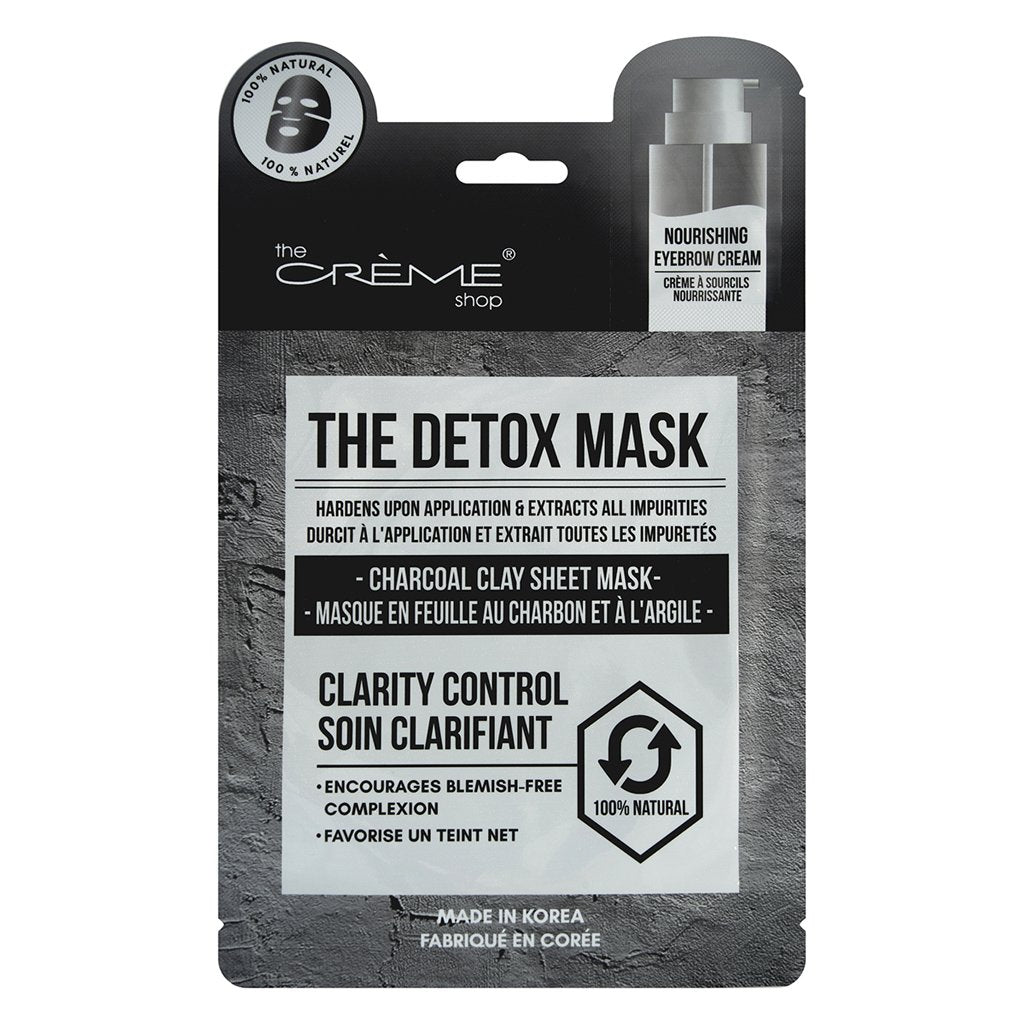 The Detox Mask - Charcoal Clay Sheet Mask - The Crème Shop