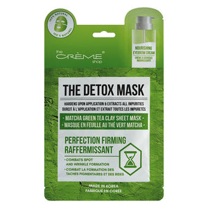 The Detox Mask - Matcha Green Tea Clay Sheet Mask - The Crème Shop