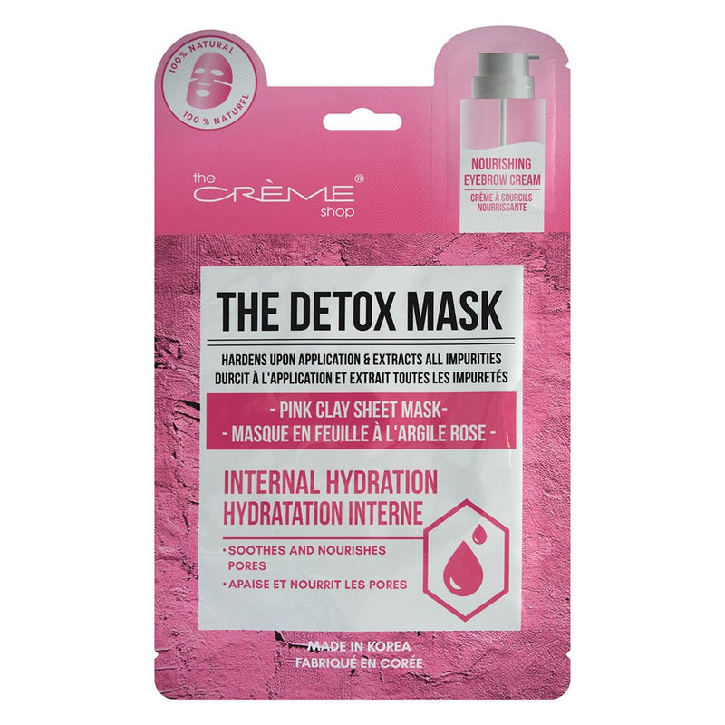 The Detox Mask - Pink Clay Sheet Mask - The Crème Shop