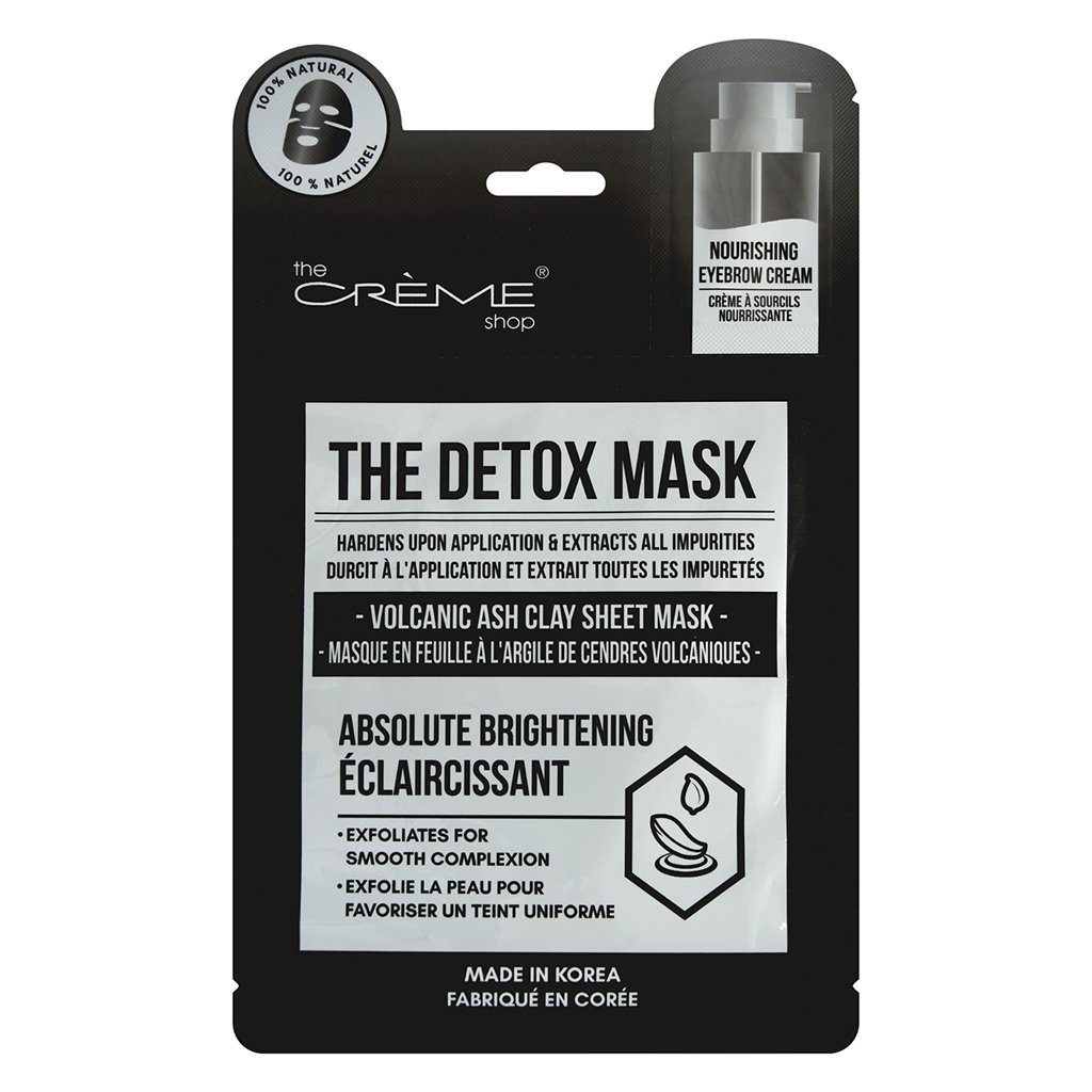 The Detox Mask - Volcanic Ash Clay Sheet Mask - The Crème Shop