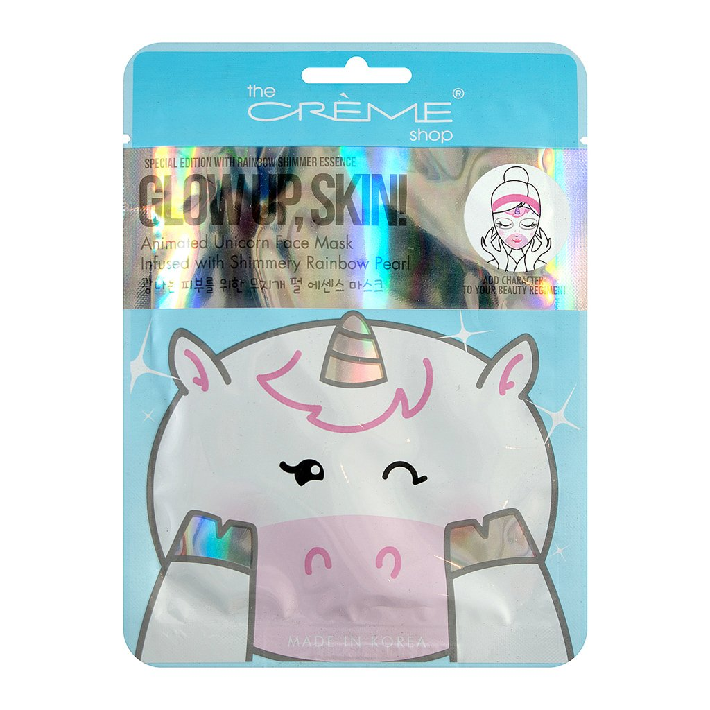 Glow Up, Skin! Unicorn Face Mask - Infused with Shimmery Rainbow Pearl - The Crème Shop